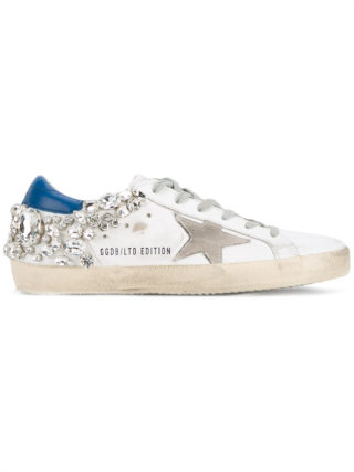 Golden Goose Deluxe Brand crystal embellished 'Superstar' sneakers - White