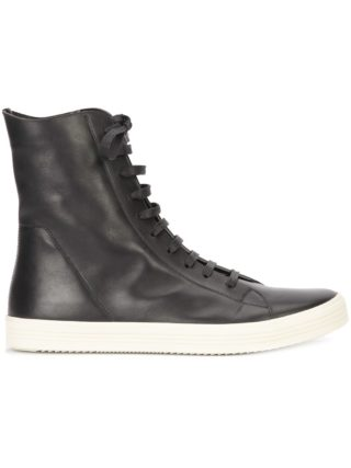 Rick Owens hi-top sneakers (zwart)