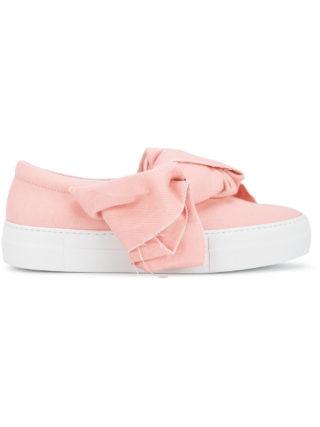Joshua Sanders denim bow sneakers (roze/paars)