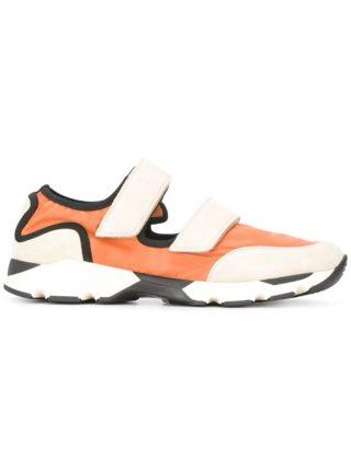 Marni colour block low-top sneakers (geel/oranje)