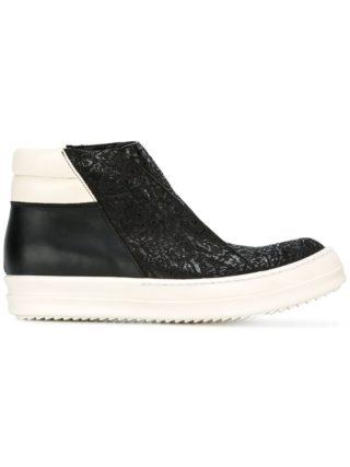 Rick Owens Island Dunk hi-top sneakers (zwart)