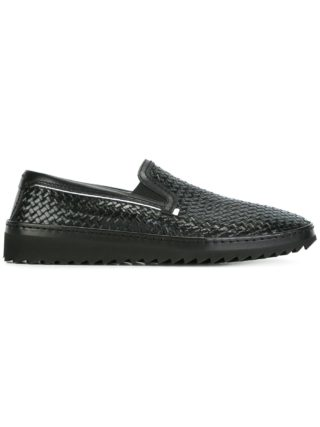 Dolce & Gabbana woven slip-on sneakers (zwart)