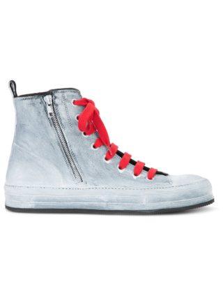 Ann Demeulemeester painted hi-top sneakers (grijs)