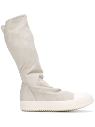 Rick Owens sock hi-top sneakers (grijs)