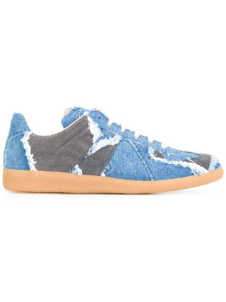 Maison Margiela Replica denim sneakers (blauw)