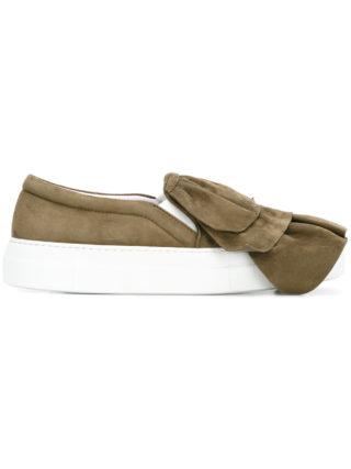 Joshua Sanders layered slip-on sneakers (groen)