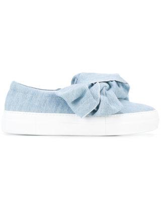 Joshua Sanders denim slip-on bow sneakers (blauw)