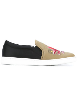 Joshua Sanders fish slip-on sneakers (zwart)