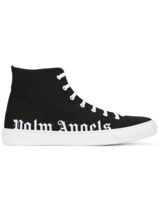 Palm Angels logo hi-top sneakers (zwart)