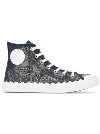 Chloé Kyle denim hi-top sneakers (blauw)