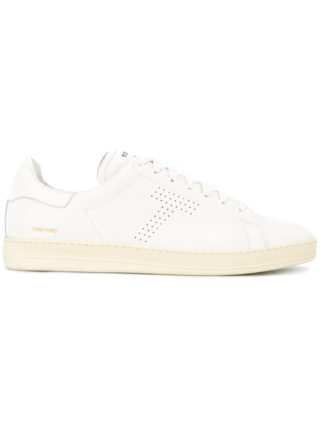 Tom Ford perforated T sneakers (wit)