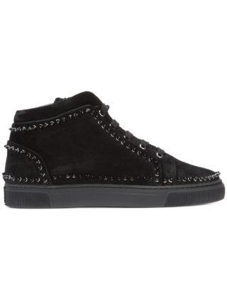 Louis Leeman studded hi-top sneakers (zwart)