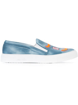 Del Toro Shoes embroidered detail sneakers (blauw)