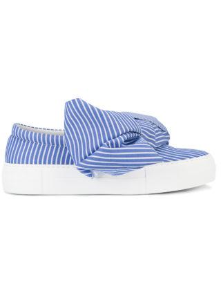 Joshua Sanders bow wide stripe sneakers (blauw)