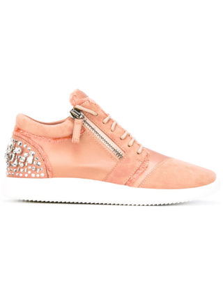Giuseppe Zanotti Design crystal embellished sneakers - Pink & Purple