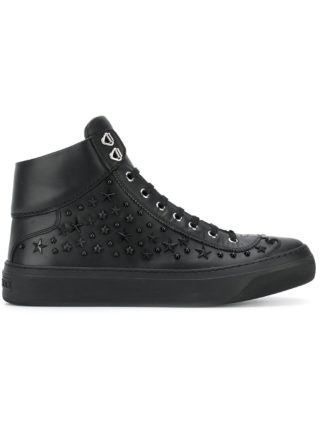Jimmy Choo 'Argyile' high top sneakers (zwart)