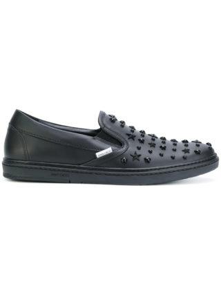 Jimmy Choo 'Grove' studded slip on sneakers (zwart)