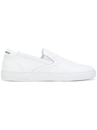 Billionaire crest emblem slip-on sneakers (wit)