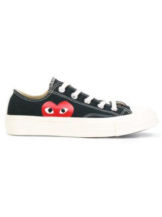 Comme Des Garçons Play logo print trainers (zwart)