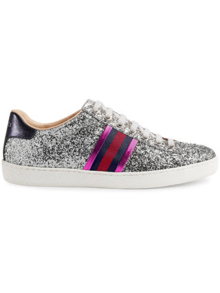 Gucci Ace glitter low-top sneaker - Grey
