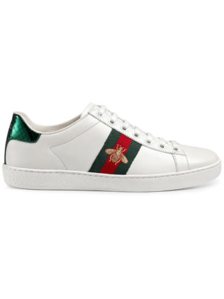 Gucci Ace embroidered low-top sneaker - White