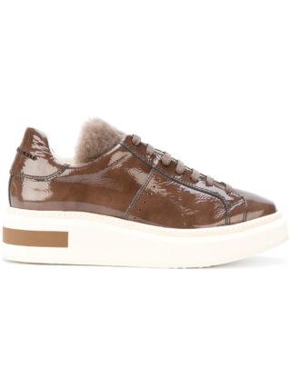 Manuel Barceló contrast platform sneakers (bruin)