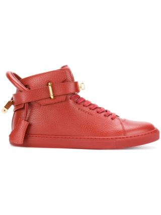 Buscemi buckled hi-top sneakers (rood)