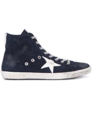 Golden Goose Deluxe Brand Blue Suede Francy hi top sneakers