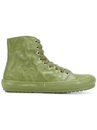Both crinkle lace-up boot (groen)