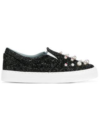 Chiara Ferragni embellished slip-on sneakers (zwart)