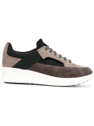 Salvatore Ferragamo chunky sole paneled sneakers (grijs)