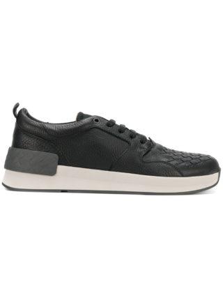 Bottega Veneta intrecciato sneakers (zwart)
