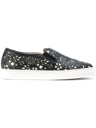 Charlotte Olympia Cool Cats sneakers (zwart)