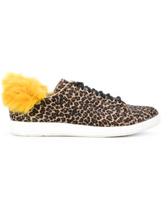 Ps By Paul Smith faux fur trim sneakers (bruin)