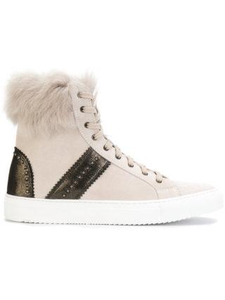 Eleventy hi-top fur detail sneakers (Overige kleuren)