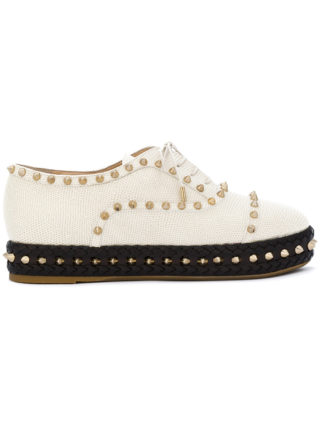 Charlotte Olympia studded platform shoes (wit)