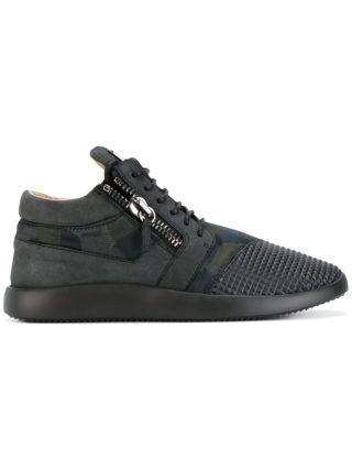 Giuseppe Zanotti Design Runner studs mid-top sneakers - Black