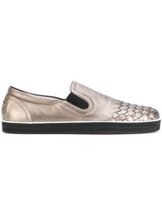 Bottega Veneta intrecciato sneakers (zilver)