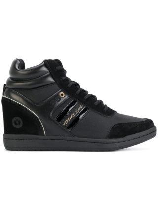 Versace Jeans concealed wedge sneakers (zwart)