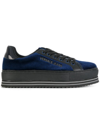 Versace Jeans platform lace up sneakers (blauw)