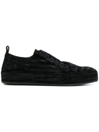 Ann Demeulemeester concealed lace trainers (zwart)