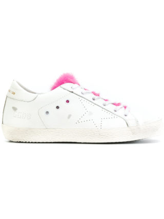 Golden Goose Deluxe Brand fur tongue Superstar sneakers (wit)