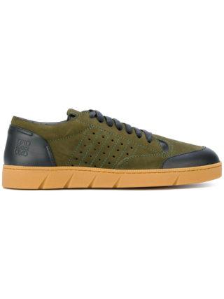 Loewe contrast panel sneakers (groen)
