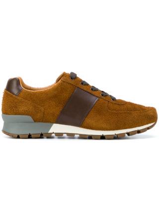 Prada bicolour sneakers (bruin)