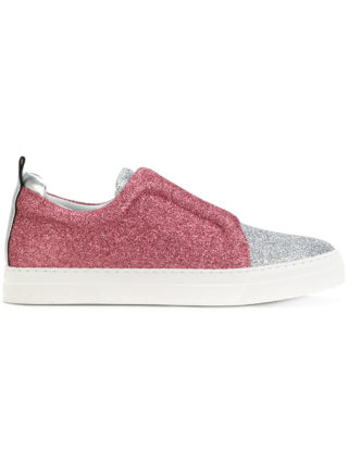 Pierre Hardy glitter slip-on sneakers (zilver)