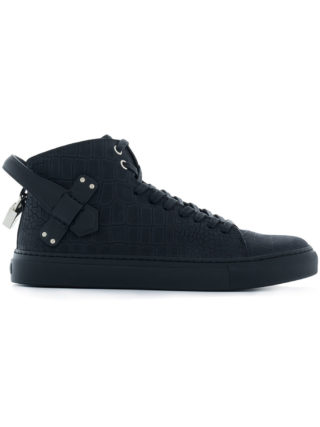 Buscemi buckled hi-top sneakers (zwart)