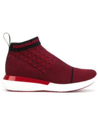 Salvatore Ferragamo Caprera sock sneakers (rood)