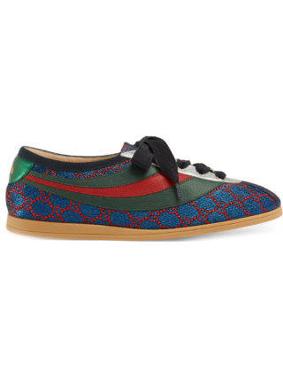 Gucci Falacer lurex GG sneakers with Web - Multicolour