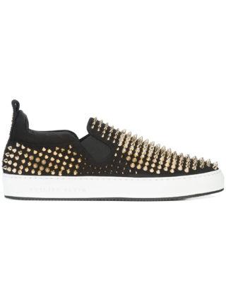 Philipp Plein My Point slip-on sneakers (zwart)