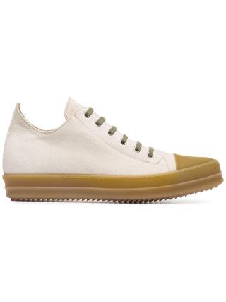 Rick Owens Beige lace up sneakers (Overige kleuren)